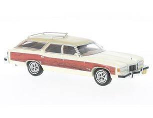 Neo Scale Models NEO47100 PONTIAC WAGON SAFARI 1976 WOODY-WHITE 1:43 Modellino