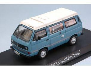Schuco SH3476 VW T3 WESTFALIA JOKER LIGHT BLUE/CREAM 1:43 Modellino