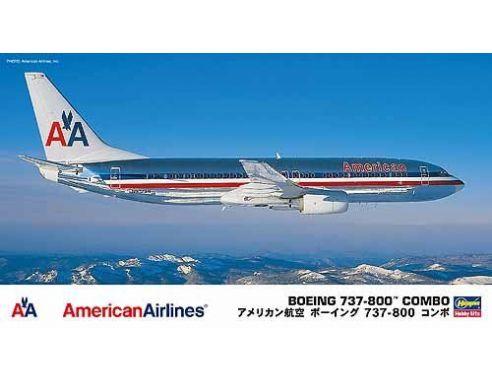 Hasegawa 10670 BOEING 737-800 COMBO AMERICAN AIRLINES KIT Aerei 1:200 Modellino