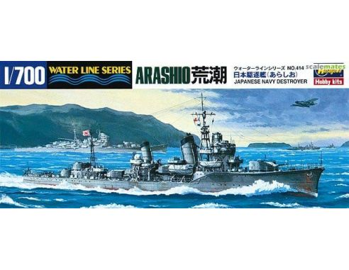 HASEGAWA 414 ARASHIO JAPANESE NAVY IJN DESTROYER 1:700 KIT Modellino