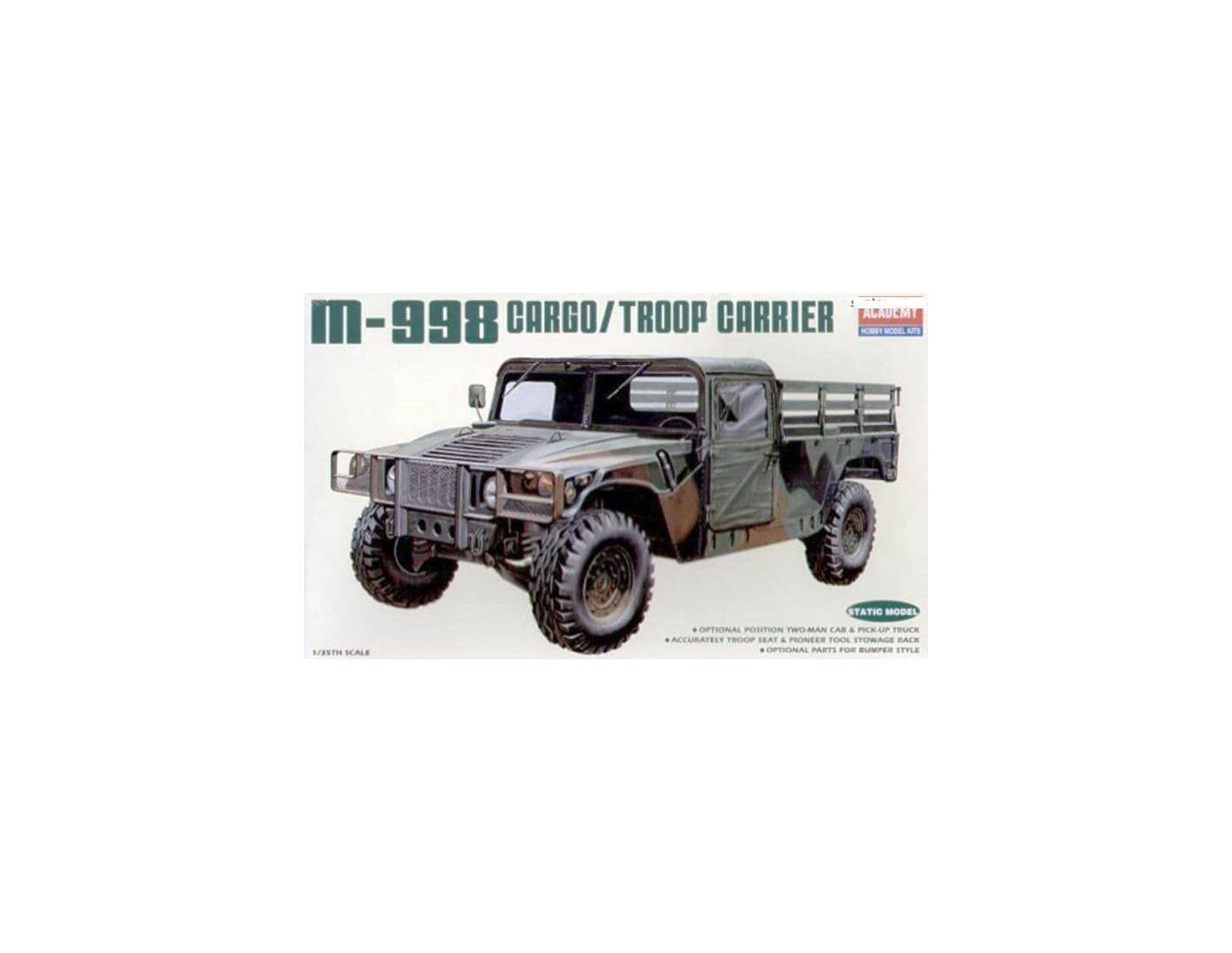 ACADEMY 1362 M-998 CARGO TROOP CARRIER 1:35 Kit Modellino