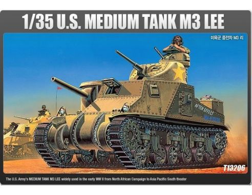 ACADEMY 13206 U.S.MEDIUM TANK M3 LEE 1:35 Kit Modellino