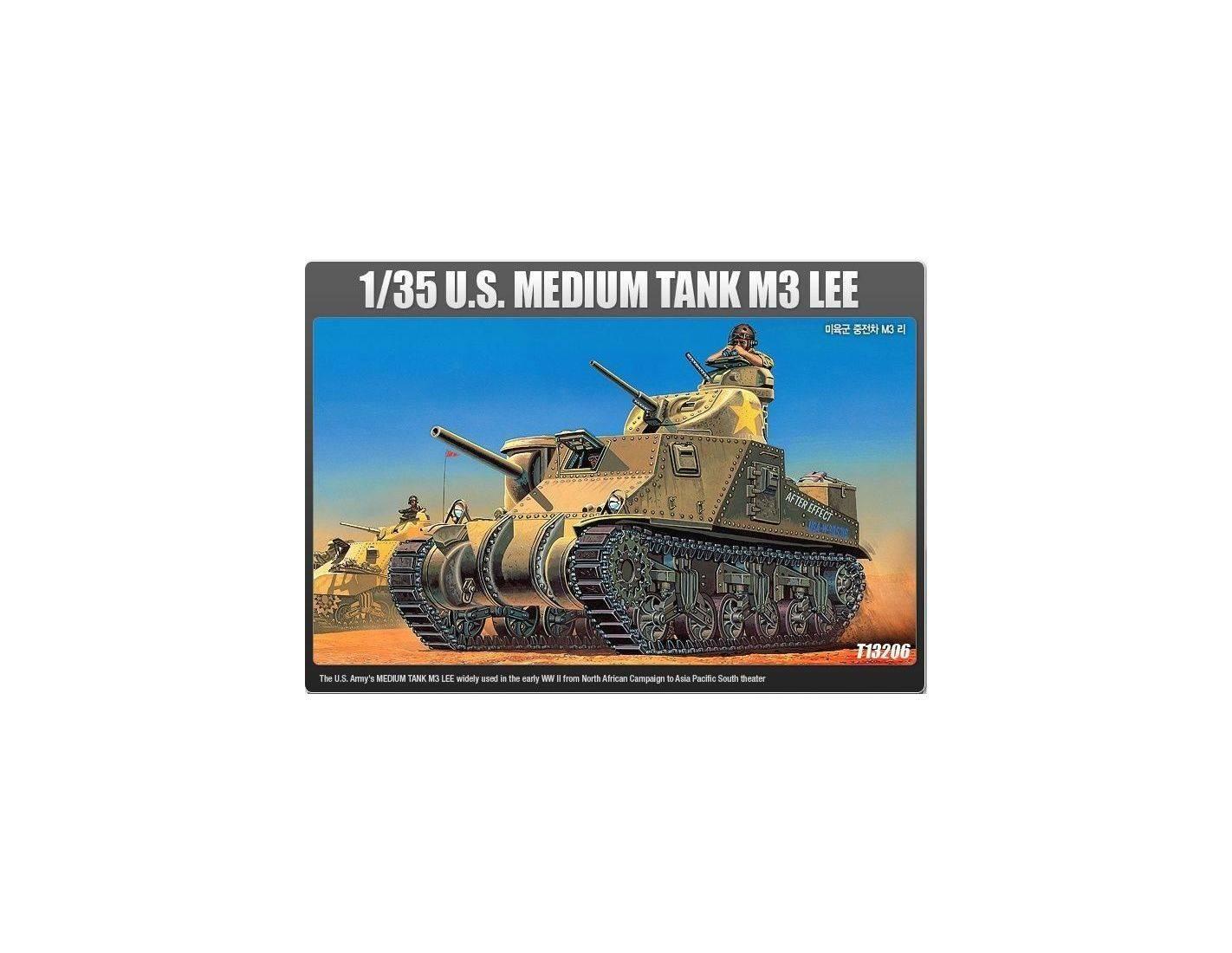 ACADEMY 13206 U.S.MEDIUM TANK M3 LEE 1:35 Kit Modellino