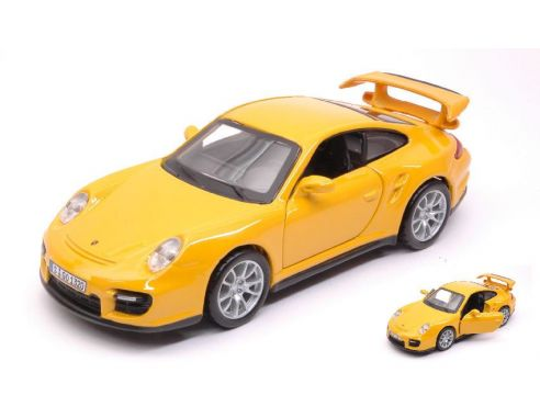bburago bu43100p porsche 911 gt2 yellow 1 32 modellino. Black Bedroom Furniture Sets. Home Design Ideas