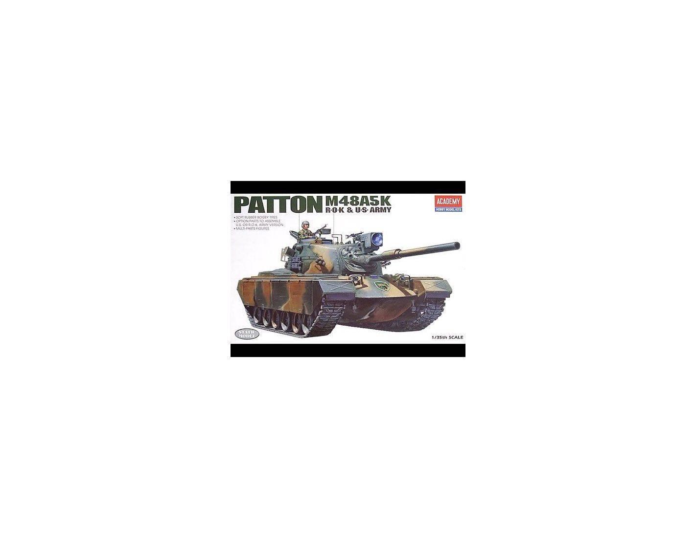 ACADEMY 1355 M48A5K PATTON ROK & US ARMY 1:35 Kit Modellino
