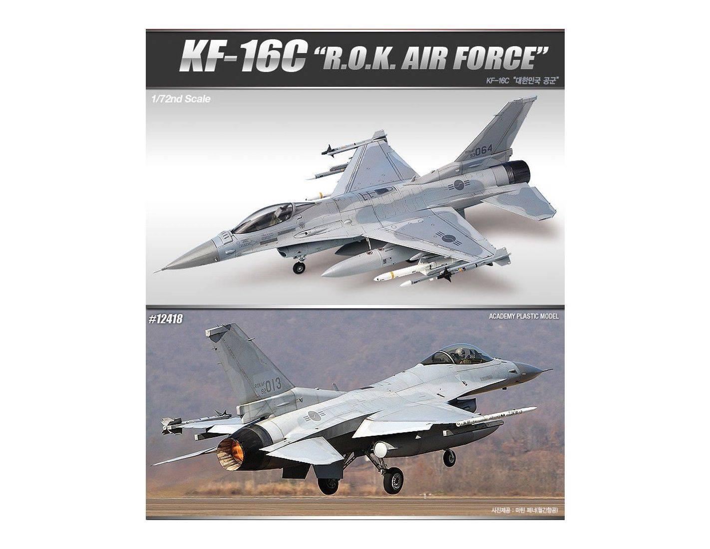 ACADEMY 12418 KF-16C FIGHTING FALCON R.O.K. AIR FORCE 1:72 Kit Modellino