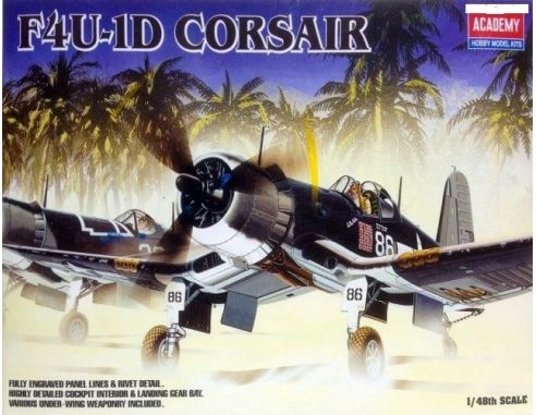 ACADEMY 2147 F4U-1D CORSAIR 1:48 Kit Modellino