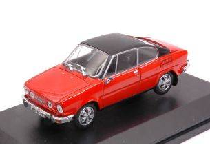 Abrex AB707BXB SKODA 110R COUPE' 1980 RACING RED BLACK ROOF 1:43 Modellino
