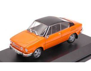 Abrex AB707GVB SKODA 110R COUPE' 1980 ORANGE BLACK ROOF 1:43 Modellino