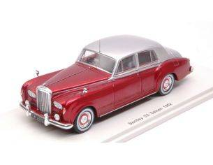 Spark Model S3820 BENTLEY CONTINENTAL S3 1962 PRUNE METALLIC W/SILVER ROOF 1:43 Modellino
