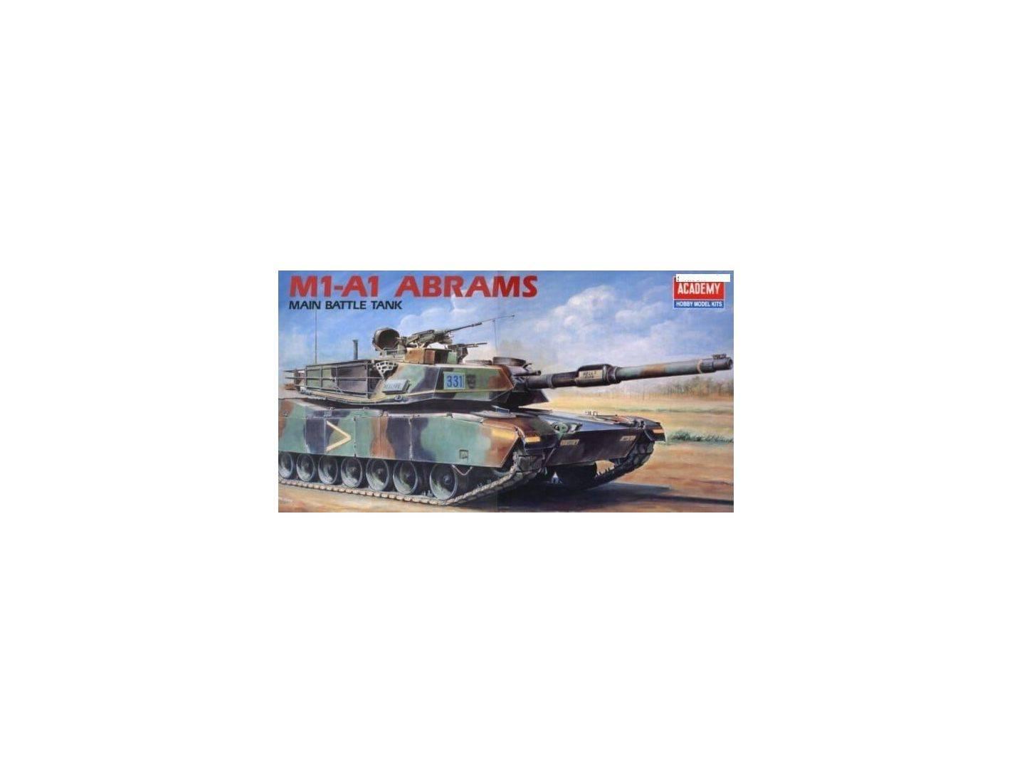 ACADEMY 1345 M1-A1 ABRAMS MAIN BATTLE TANK 1:35 Kit Modellino