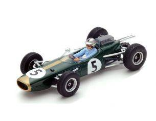 Spark Model S5251 BRABHAM BT7 J.BRABHAM 1964 N.5 RETIRED MONACO GP 1:43 Modellino