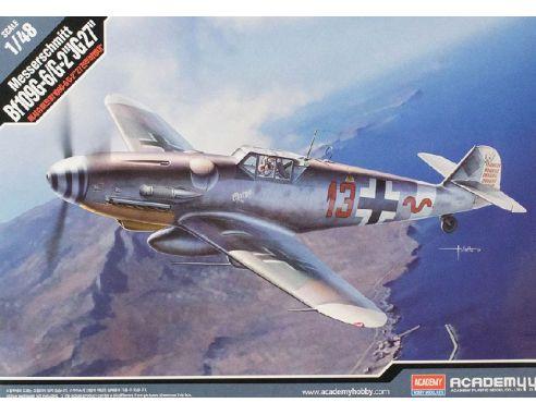 Accademy ACD12321 MESSERSCHMITT BF109G-6/G-2 JG 27 KIT 1:48 Modellino