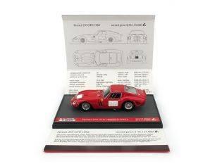 Brumm BMS1724 FERRARI 250 GTO PREZZO RECORD IN ASTA $38115000 LIM.250 1:43 Modellino