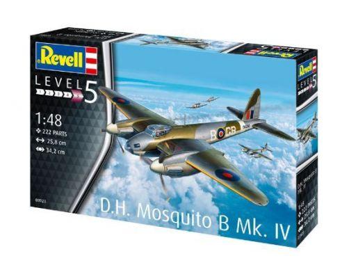 Revell RV03923 D.H.MOSQUITO BOMBER KIT 1:48 Modellino