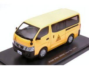 Ebbro EB45597 NISSAN NV350 CARAVAN SCHOOL BUS 2012 YELLOW 1:43 Modellino