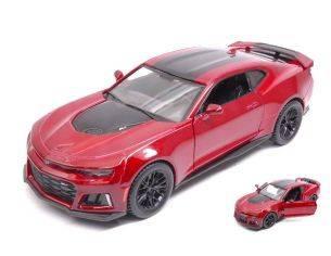 Motormax MTM79351R CHEVROLET CAMARO ZL1 2017 RED/BLACK 1:24 Modellino