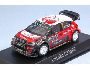 Norev NV155362 CITROEN C3 WRC N.8 8th MONTE CARLO 2017 S.LEFEBVRE-G.MOREAU 1:43 Modellino