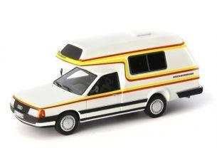 Autocult ATC09003 AUDI 100 TYP 44 BISCHOFBERGER (CAMPER) 1985 WHITE 1:43 Modellino