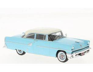 Neo Scale Models NEO46945 MERCURY CUSTOM 2 DOOR SEDAN 1955 LIGHT BLUE/WHITE 1:43 Modellino