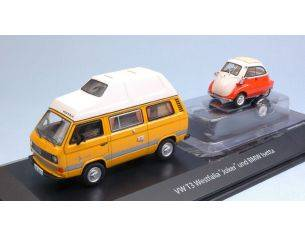 Schuco SH3303 VW T3 WESTFALIA JOKER W/BMW ISETTA 1:43 Modellino
