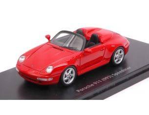 Schuco SH8878 PORSCHE 911 (993) SPEEDSTER RED 1:43 Modellino