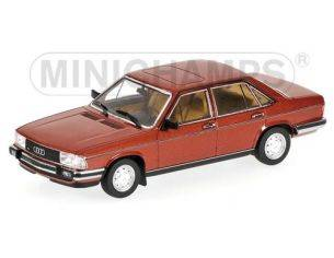 MINICHAMPS 400015101 AUDI 100 RED METALLIC 1979 Modellino