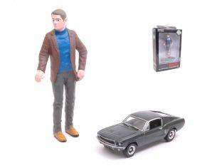 Greenlight GREEN29931 FORD MUSTANG GT FASTBACK 1:64 + STEVE MC QUEEN FIGURE 1:18 Modellino