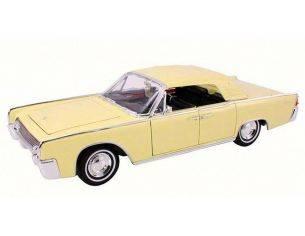 Hot Wheels LDC20088Y LINCOLN CONTINENTAL 1961 YELLOW 1:18 Modellino
