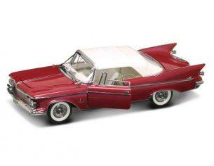 Hot Wheels LDC20138R CHRYSLER IMPERIAL CLOSED CONVERTIBLE 1961 RED/WHITE 1:18 Modellino