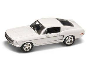 Hot Wheels LDC43206W FORD MUSTANG GT 1968 WHITE 1:43 Modellino