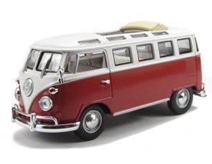 Hot Wheels LDC43208BUR VW MICROBUS 1962 2-TONE BURGUNDY/WHITE 1:43 Modellino