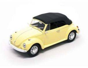 Hot Wheels LDC43221Y VW BEETLE CABRIO SOFT TOP 1972 YELLOW/BLACK 1:43 Modellino