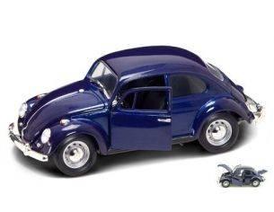 Hot Wheels LDC92078DB VW BEETLE 1967 DARK BLUE 1:18 Modellino