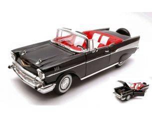 Hot Wheels LDC92108BK CHEVROLET BEL AIR 1957 BLACK 1:18 Modellino