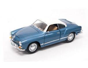 Hot Wheels LDC92198MB VW KARMANN GHIA 1966 LIGHT METALLIC BLUE 1:18 Modellino