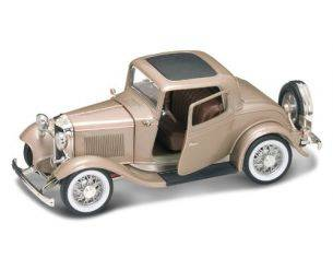 Hot Wheels LDC92248GT FORD 3 WINDOW COUPE' 1932 GOLD 1:18 Modellino