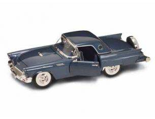 Hot Wheels LDC92358BL FORD THUNDERBIRD W/HARDTOP 1957 LIGHT BLUE MET.1:18 Modellino