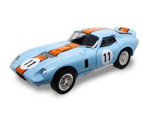 Hot Wheels LDC92408BU SHELBY COBRA DAYTONA COUPE' 1965 N.11 GULF VERSION 1:18 Modellino