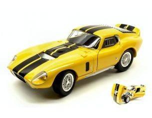 Hot Wheels LDC92408YL SHELBY COBRA DAYTONA COUPE' 1965 YELLOW W/BLACK STRIPES 1:18 Modellino