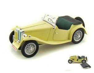 Hot Wheels LDC92468CR MG TC MIDGET 1947 CREAM 1:18 Modellino