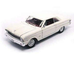 Hot Wheels LDC92708W FORD FALCON 1964 WHITE-CREAM 1:18 Modellino
