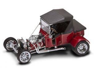 Hot Wheels LDC92829BG FORD MODEL T ROADSTER 1925 W/HARDTOP BURGUNDY 1:18 Modellino