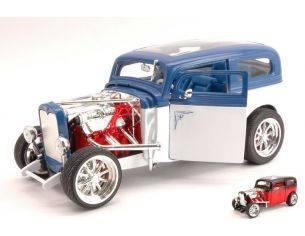 Hot Wheels LDC92849W FORD MODEL A 1931 WHITE/BLUE 1:18 Modellino