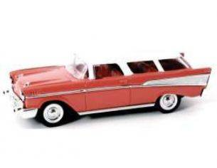 Hot Wheels LDC94203R CHEVROLET NOMAD 1957 RED W/WHITE ROOF 1:43 Modellino