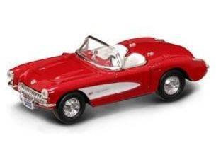 Hot Wheels LDC94209R CHEVROLET CORVETTE 1957 RED 1:43 Modellino