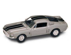 Hot Wheels LDC94214GY SHELBY GT-500KR 1968 GREY W/BLACK STRIPES (ELEANOR COLOURS) 1:43 Modellino