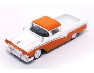 Hot Wheels LDC94215OR FORD RANCHERO 1957 ORANGE/WHITE 1:43 Modellino