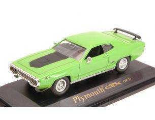 Hot Wheels LDC94218GR PLYMOUTH GTX 1971 GREEN 1:43 Modellino
