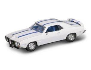 Hot Wheels LDC94238W PONTIAC FIREBIRD TRANS AM 1969 WHITE W/BLUE STRIPES 1:43 Modellino